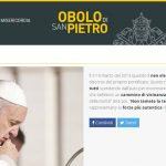 Órgão para a caridade do Papa ganha site para doações online